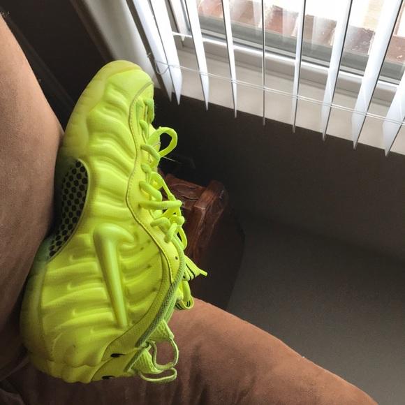 size 40 0c608 c1278 Nike Shoes | Air Foamposite Pro Volt Lime Green | Poshmark